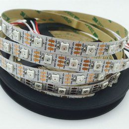 Wholesale Digital Pixel Led Strip - DHL 50M Lot 60led m WS2812B WS2812 led strip White PCB,Non-waterproof DC5V RGB Digital Dream color ic SMD 5050 Addressable Pixel