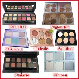 Wholesale Pink Powder - Eye shadow Palette with brush pink eyeshadow palette glow kit &Highlight Kit Makeup Face powder Palette