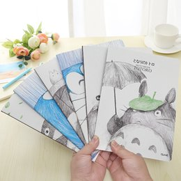 Wholesale Totoro Paper - Wholesale- 4 pcs lot Cartoon Totoro A5 Stitching Notebook Notepad Kawaii Design Diary School&Office Supply Stationery Promotion Gifts