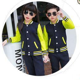 Wholesale Warm Children S Set - Coat Casual Style Set Children wearCotton Spandex Yellow Black Gray-Black Keep Warm Loose Version Fashion Elasticity Buttons