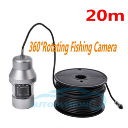 Wholesale Ccd Video Cameras - Free DHL F08S 360 Degree Rotating Fishing Camera 20M Underwater Fish Camera Sony CCD 1000TVL HD Color Video Camera Fish Finder system ann