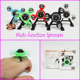 Wholesale Center Function - Fidget Spinner Tri-Spinner 4 in 1 Muti-function Spinner Snap Spinner Center Snap Goll Slide Top Spin Pencil Topper Spin