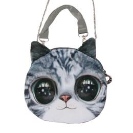 Wholesale Dog Head Handbag - Wholesale-2015 New Fashion Women Shoulder Bag Animal Cat Dog Head Print Crossbody Bag Zipper Mini Bolsos Handbag for Women Totes Bag