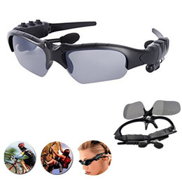 Wholesale Bluetooth Phone Sunglasses - Bluetooth Sunglasses Glasses Wireless Music Sunglasses Outdoor Stereo Headphones Handsfree Headset for Android iPhone 5s 6 6s plus 7 Samsung