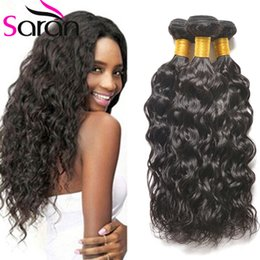 Wholesale Remi Curly - Ali Moda 3pcs Malaysian Water Wave Human Hair Bundles Cheap Wet and Wavy Remi Weave Unprocessed Curly Hair Extensions Natural Wave