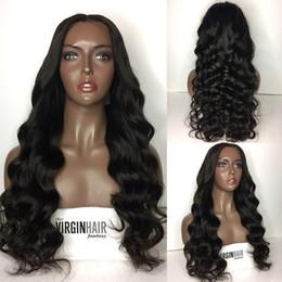 Wholesale Wavy Long Black Hair Wig - Pre Plucked 150 Density Human Hair Full Lace Wigs Black Women Glueless Lace Front Human Hair Wigs Long Wavy Lace Frontal Wig