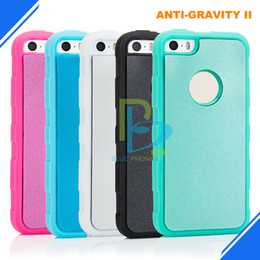 Wholesale Dust Covers For Cell Phones - anti-gravity cell phone cover for iphone 5 5S SE updated version have Protect dust stick anti gravity phone case