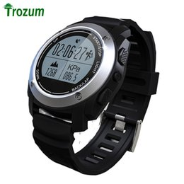 Часы настенные онлайн-Wholesale- TROZUM S928 professional sports GPS smart watches barometric temperature altitude heart rate mountain climbing step positioning