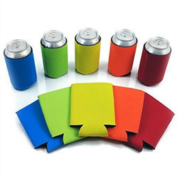 Wholesale Wholesale Can Coolers - Beer Can Sleeves Neoprene Drink Cooler Sleeves Wrap Holders Can Insulator Nigth Party Favors Gifts OOA2236