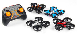 Wholesale Mini Remote Control Helicopter Toys - Original JJRC H8 Mini Drone 6 Axis RC Micro Quadcopters With Headless Mode One Key Return Helicopter Vs H8 Dron Best Toys Drone