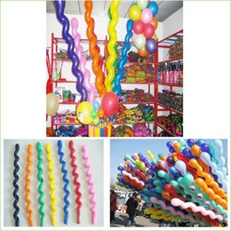 Wholesale Long Ballons - 100Pcs Pack New Fashion Giant Rubber Helium Spiral Latex Balloons Wedding Birthday Party Decoration Ballons Wholesale