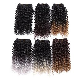 Wholesale Premium Hair Extensions Curly - New brazilian curly hair Premium Quality Noble Gold Super Diva Wave Synthetic Hair Extensions Short Kinky Curly Weave Weft usa