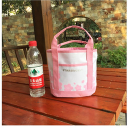 Wholesale Faux Food - Portable bag Cooler Insulated Canvas Lunch Bag Thermal Food Picnic Lunch Bags for Women Kids Men Cooler Lunch Box Bag Tote free shipping