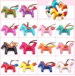 Wholesale Tassel Wholesale Handbags - New 17 Colors Fashion Cute Women's Bag Pendant High-end Handmade PU Handbag Key Chains Tassel Rodeo Horse Bag Charm bag Accessories 2332