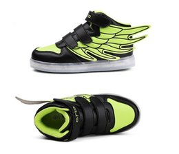 Wholesale Led Round Grow Light - Quality 5 Colors Kids LED Shoes 2017 Autumn Winter High Top Children Growing Sneakers For Boys Girls Luminous Lights Shoes Solid