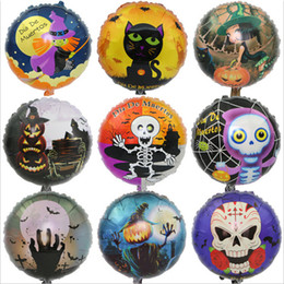 Wholesale Outdoor Christmas Balloons - 18 inch Halloween decorations aluminum foil balloons animal balloons walking pet balloons pumpkin head Skull spider Party children toys