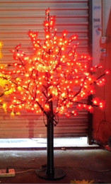 Wholesale Outdoor Plastic Tree - 636 LEDs 5ft Height LED Maple Tree LED Christmas Tree Light Waterproof 110 220VAC RED Yellow Color Outdoor Use Free Shipping LLFA