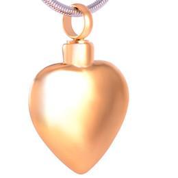 Collana di monili dell'urna online-IJD8408 Blank Heart Collana ciondolo in acciaio inox ciondolo gioielli cenere di memoria Collana Urn Keepsake