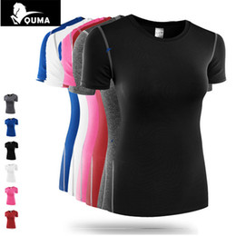 Wholesale Tight Ladies T Shirt - Summer Women 2017 Short Sleeve Top Stretch Sweat tights Lady Bodybuilding Fitness Traning Pro Girls Tees Base Layer T shirt