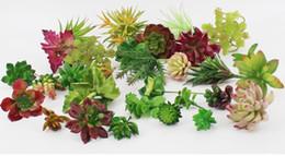 Wholesale Wholesale Artificial Cactus Plants - Artificial Plants With Vase Bonsai Tropical Cactus Fake Succulent Plant Potted Office Home Decorative Flower Pot LLFA