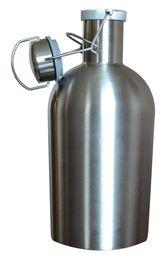1000 мл 32 унций Гроулер из нержавеющей стали пиво хип колбу безопасный качели топ с крышкой ремесло бутылка saver BPA одностенные дешевые (7) от Поставщики модные аксессуары