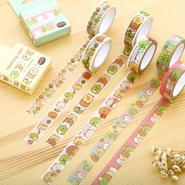 Wholesale Kawaii Mask - Wholesale- 2016 1.5cm*10m Sumikko Gurashi washi tape DIY decoration scrapbooking planner masking tape adhesive tape kawaii stationery