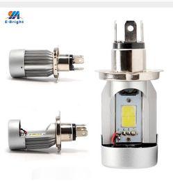 Wholesale Headlight Plugs - New LED 20W*2 2000LM*2 Hi Lo Beam DC12V 6500K BA20D Plug Led Motorcycle Headlight Bulbs Moped Scooter Motobike Headlamp
