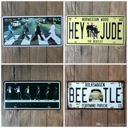Wholesale Painting Michael - Michael Jackson 30X15 CM Metal Tin Sign Beatles Zebra Crossing Tin Poster Hey Jude License Plate Iron Painting Vintage 6 5jr