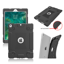 Wholesale Ipad Silicone Covers - 360 Full Protective Case Silicone TPU Anti Drop Shockproof Pad Cover For Fire7 HD 8 2017 ipad 2 3 4 5 6 pro 9.7 inch 20179.7 Opp Bag