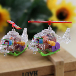 Wholesale Child S Toys - New strange creative winding winding transparent mini aircraft children 's educational toys supply wholesale free shipping