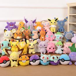 Charmander plush en Ligne-Jouets en peluche Poke 20 styles Dragonite Pikachu Jigglypuff gengar Jirachi Charmander 13-20cm Jouets en peluche doux jouet Nouvel an Cadeau