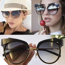 Wholesale Lady Models - New fashion Women sunglasses MJ 101 catwalk models cat Sunglasses frames summer style UV400 lens fashion ladies brand sunglasses