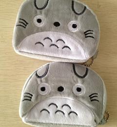 Wholesale Totoro Wallet Wholesale - Wholesale- MY Neighbor TOTORO 11CM Plush Hand Coin BAG Pouch Wallet Purse ; Keychain Storage Pendant Storage Gift BAG Pouch Handbag Case