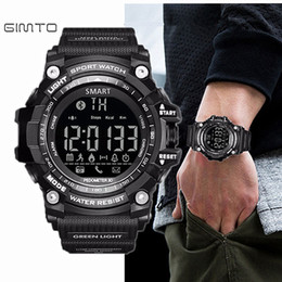 Wholesale Intelligent Wristwatch - Gimto Brand LED Outdoor Electronic intelligent Wristwatch Waterproof Sport Digital Smart Watch Pedometer WristWatch Men q4201