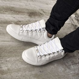 Wholesale Lowest Price Party Shoes - Lowest Price Luxury Arena Sneakers Shoes White Kanye West BL Men's Walking Casual Trainers Party Dress Shoes 36-46