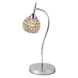 Wholesale Sconce Chrome - Modern Silver Golden Crystal Bedroom Desk Lamps Living Room Table Lamps Luxury Bedsides table Light Wall Sconces Fixtures