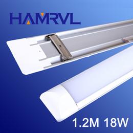 Wholesale Fluorescent Panel - Wholesale- New 18W LED Bright Fluorescent Light 120CM White   Warm white Frame Living Room Lamp LED panel light 110V 220V