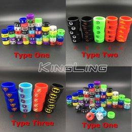 Wholesale E Cig Rubber - Vape Rings Super Hero Rubber Silicone Ring Spiderman Iron Wonder Woman Man Punisher Captain America fit Atomizers Mod Tank E Cig DHL Free