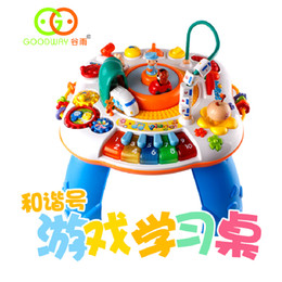 Wholesale Harmony Toy - Running Harmony Train Baby Walker Parent Child Bilingual Game Table Desktop Walker Musical Children Toys Table Learning Stand Walker
