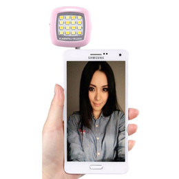 Wholesale Led Ring Light For Video - Universal Cell Phone Flash LED Mini Spotlight Ring Fill-In Lighting Pocket Bulb Camera Lamp With 3.5MM Jack For Best Photos & Video In Dark