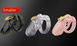 Wholesale Male Chastity Wholesale - Smaller or Standard Size Chastity Device Male penis Cock Cage With Brass Lock Locking Number Tags Sex products
