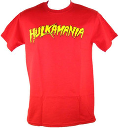Wholesale Hulk T Shirts - Hulk Hogan Hulkamania Mens T-shirt Wrestling Classic Adult Cotton Man T Shirts Clothing Funny Tops Tee Casual O Neck Euro Size
