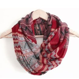 Wholesale Print Items - Wholesale- New Fashion Aztec Printed Long Tribal Women Scarfs Geometric Scarves Shawls Hot Item Hot