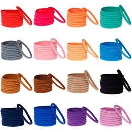 Wholesale Fashion Hair Colors - Newborn Nylon Headbands Baby Girl Soft Hair Accessories Fashion Infants Elastic Hair bands 23 Colors