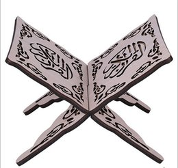 Wholesale quran pens - Wholesale-Quran Book Stand Holder Hands Free Reading stand Quran Pen Holder Folding Religious Prayer Book Holder Display Stand Wooden