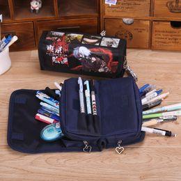 Wholesale Code Pen - Wholesale- Lancao Multilayer Coded Lock Pencil Case Multifunction Pen Pocket for Boy Free Shipping Korean Cartoon Pencil Bag