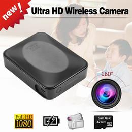 Videocámara ip online-160 grados de visión gran angular A6 WIFI Cámara IP 10000 mah Banco de energía Cámara de detección de movimiento HD 1080 P Videocámara Digital Mini DV