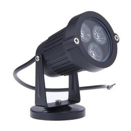 Wholesale Ip68 Spot Light - 9W LED Garden Lawn Lamp Light 12V IP68 Waterproof Outdoor Lighting Green Yellow Red Blue White 3*3W LED Lawn Spike Spot Light Wholesale