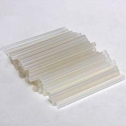 Wholesale Hot Melt Glue Sticks Wholesale - 50pcs lot 7mmx100mm Clear Glue Adhesive Sticks For Hot Melt Glue sticks for Glue Gun Car Audio Craft Alloy Accessories Hot Sale