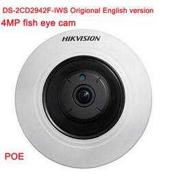 Wholesale Wifi Network Camera Ptz - Origional English version DS-2CD2942F-IWS 4MP wifi Fisheye Network ip security Camera with Fisheye & PTZ view